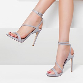 Ericdress Open Toe Strappy Stiletto Sandals