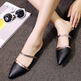 Ericdress Closed Toe Color Block Mules Shoes