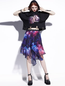 Chiffon Knee-Length Layered Skirts