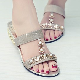 Ericdress Flip Flop Mules Shoes with Beads