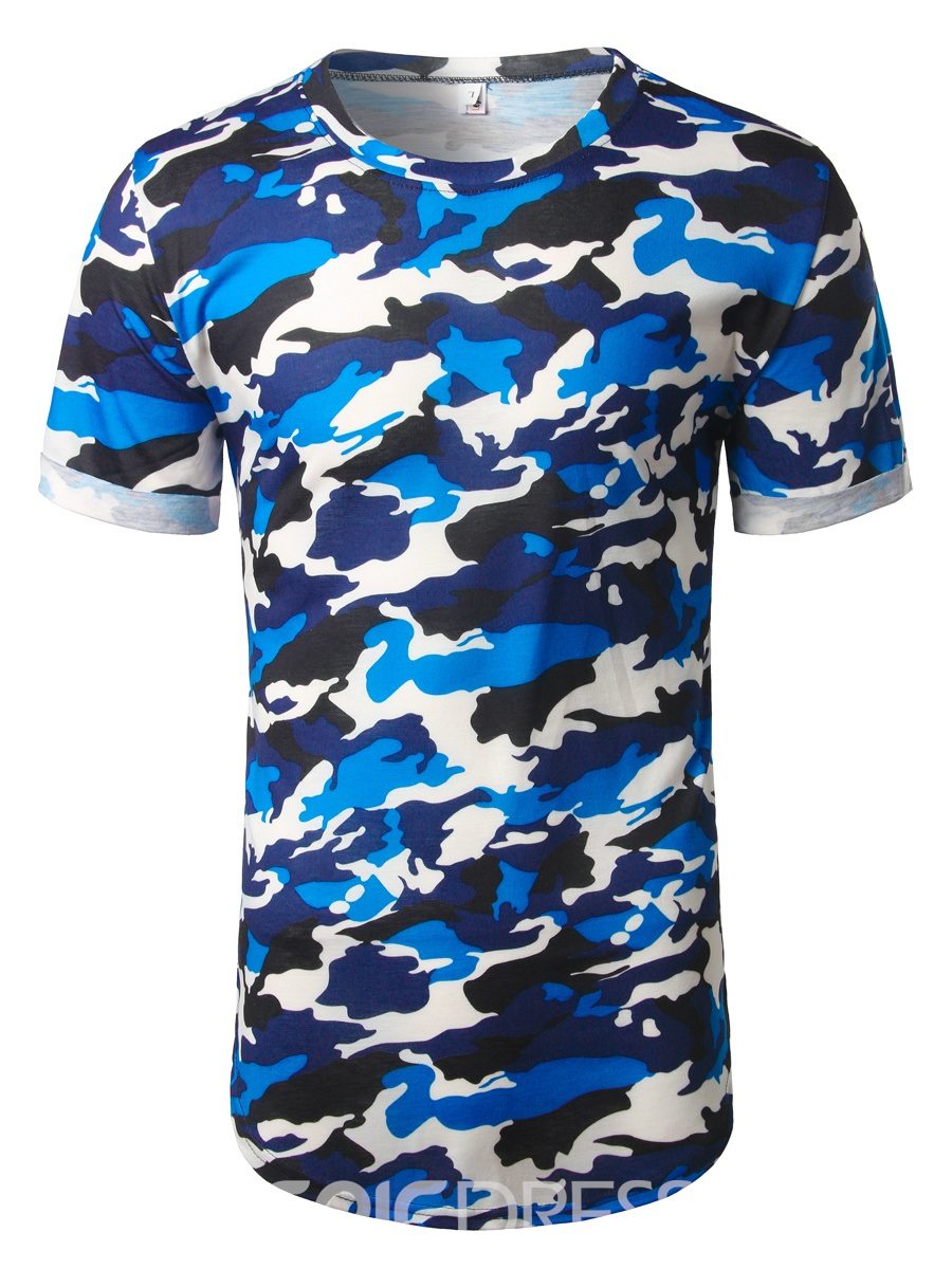 Ericdress Camouflage Print Casual Mens T-shirt
