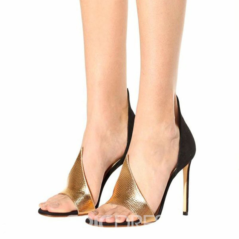 Ericdress Fashionable Color Block Stiletto Sandals