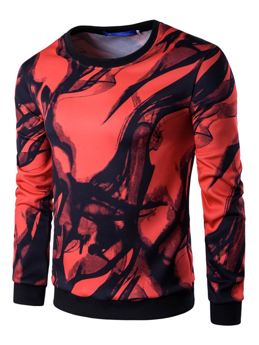 Ericdress Round Neck Print Vogue Men's Hoodie