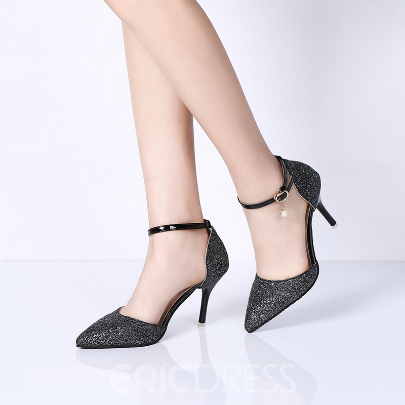 Ericdress Pointed Toe Plain Pumps with Beads