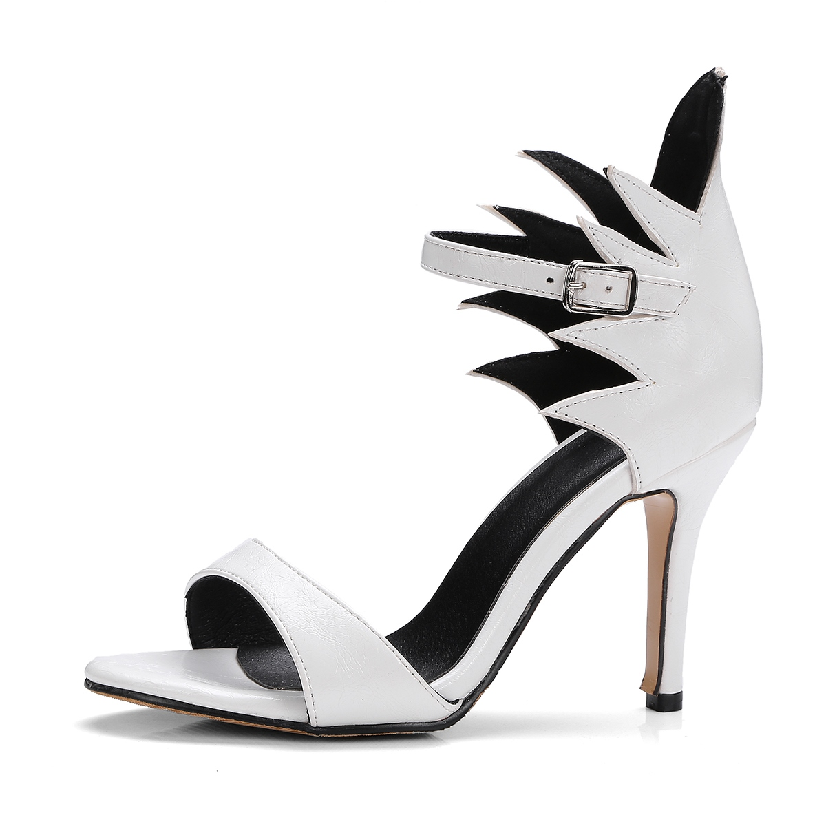 Ericdress Open Toe Line-Style Buckle Stiletto Sandals