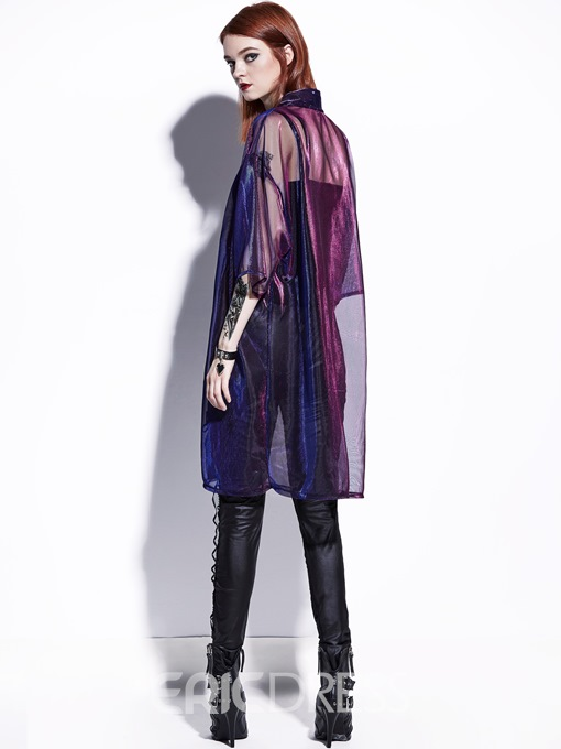 Ericdress Color Block Thin Single-Breasted Women's Cape
