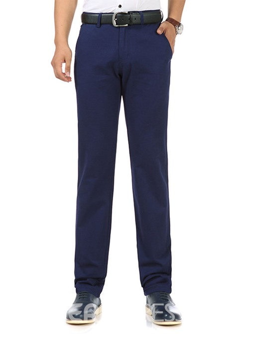 Ericdress Plain Straight Loose Casual Men's Chinos Pants