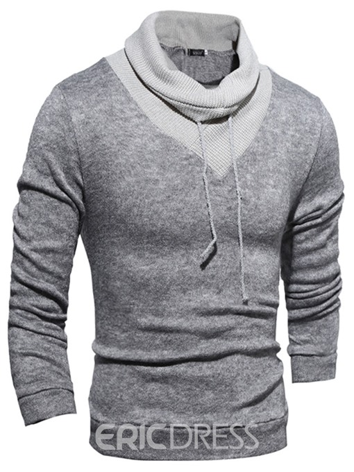 Ericdress Patchwork Solid Color Vogue Slim Men's Hoodie
