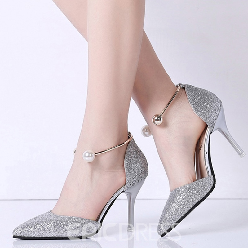 Ericdress Pointed Toe Pumps with Beads