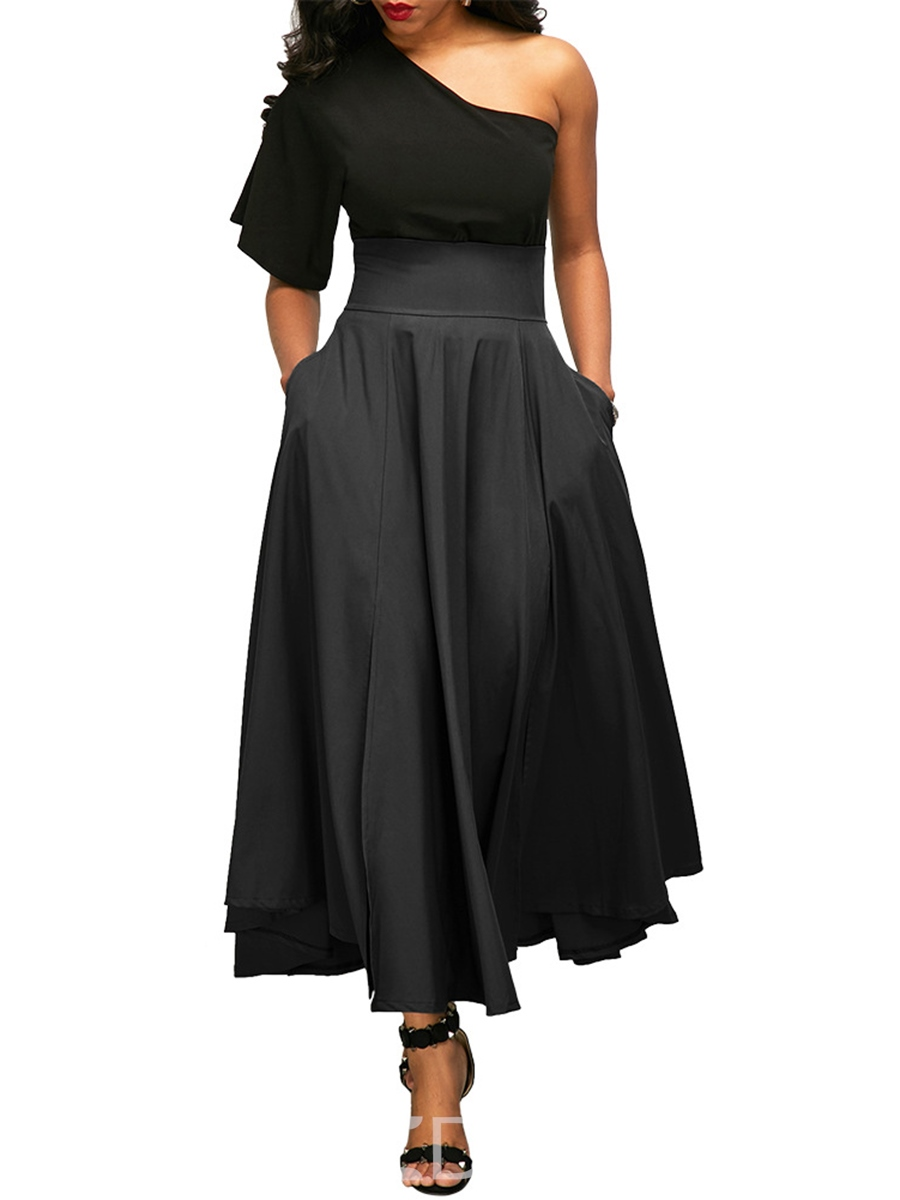 Ericdress High-Waist Pocket Ankle-Length Usual Skirts