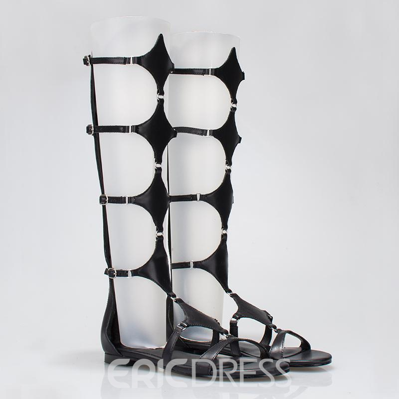 Ericdress Popular Hollow High Shaft Flat Sandals
