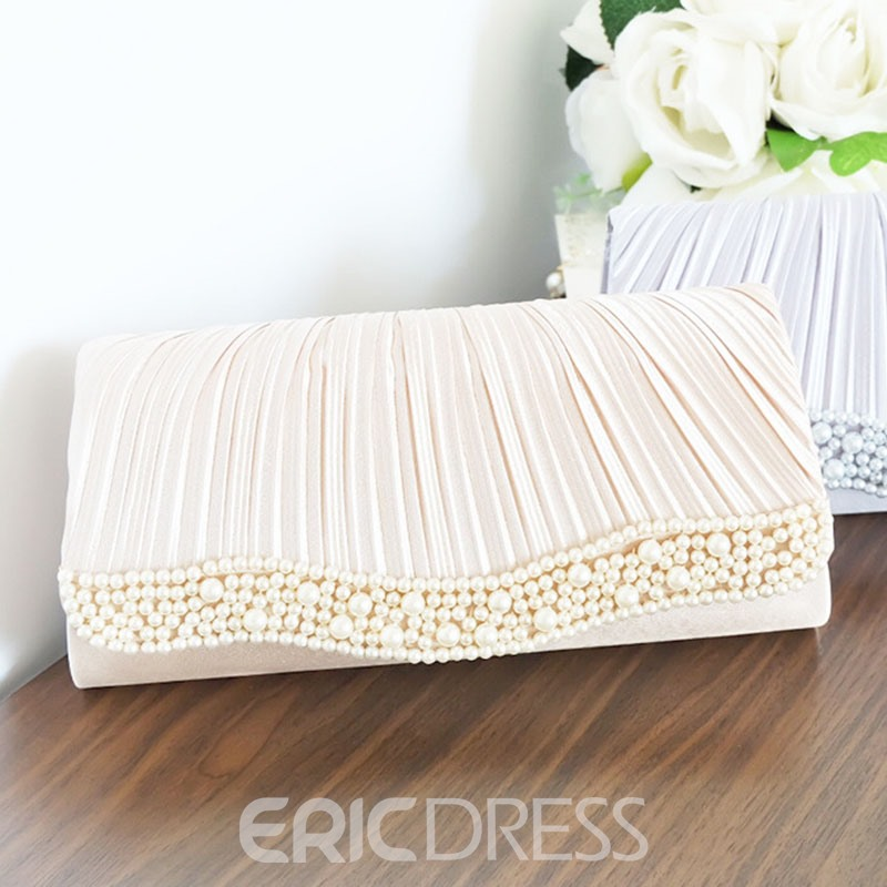 Ericdress Handmade Beading Wave Pattern Clutch