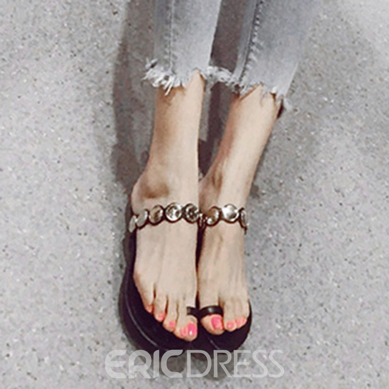 Ericdress Toe Ring Plain Flat Mules Shoes