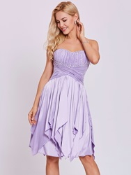Ericdress Sweetheart Lace-Up Beaded A Line Homecoming Dress