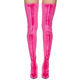 Ericdress Rose Pointed Toe Knee High Boots