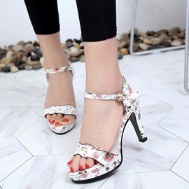Ericdress Ankle Strap Platform Chunky Sandals with Buckle