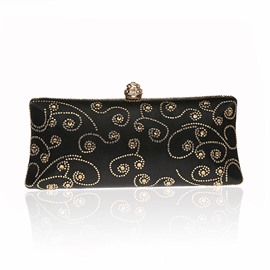 Ericdress Floral Rhinestone Adornment Evening Clutch