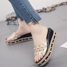 Ericdress Flip Flop Platform Mules Shoes with Beads