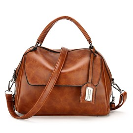 Ericdress Retro Solid Color PU Women Handbag