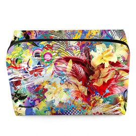 Ericdress Fashion Floral Printing Cosmetic Bag