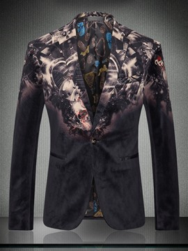 Ericdress Gradient Print Notched Lapel Men's Blazer