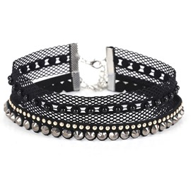 Ericdress All Match Chic Black Lace Choker for Women