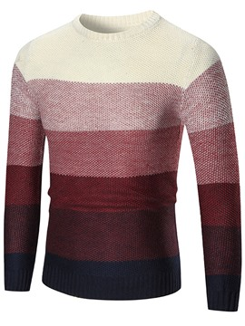Ericdress Vogue Gradient Crew Neck Pullover Men's Sweater