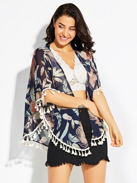 Ericdress Thin Floral Chiffon Wrapped Cape