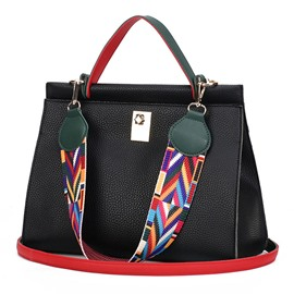 Ericdress Trendy Colorful Belt-Decoration Handbag