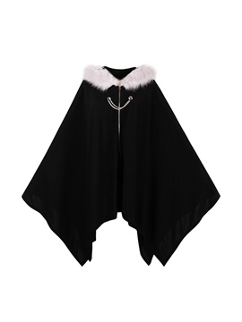 Ericdress Zipper Thick Winter Cape