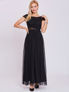 Ericdress Bateau Neck Hollow A Line Evening Dress