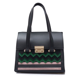 Ericdress Color Block Wavy Stripe Pattern Handbag