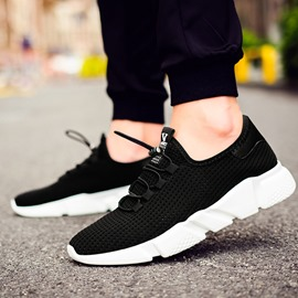 Ericdress Black Mesh Patchwork Men's Sneakers