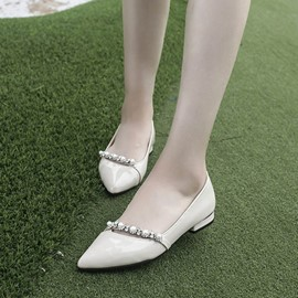 Ericdress Rhinestone Slip-On Plain Flats