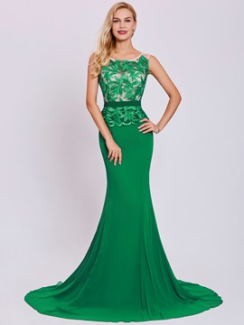Ericdress Lace Appliques Mermaid Evening Dress