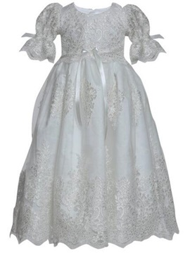 Ericdress Scoop Short Sleeves Ball Gown Christening Dress