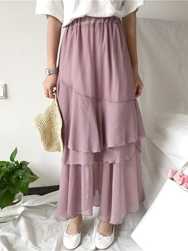 Ericdress Chiffon Ankle-Length Usual Skirts