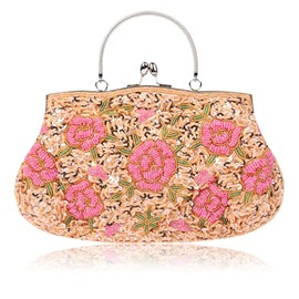 Ericdress Ethnic Style Embroidery Handmade Beads Clutch