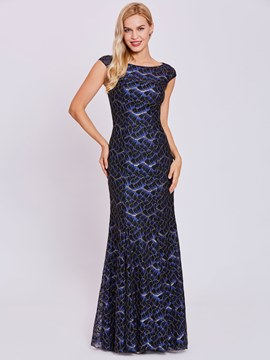 Ericdress Bateau Neck Lace Mermaid Evening Dress