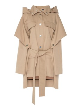 Ericdress Patchwork Zipper Pocket Trench Coat
