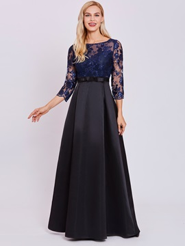 Ericdress Half Sleeve Appliques A Line Evening Dress