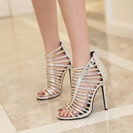 Ericdress Hollow Plain Stiletto Sandals