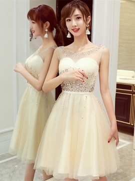 Ericdress A Line Sequin Tulle Short Knee Length Homecoming Dress