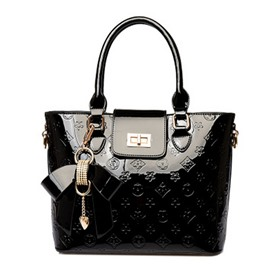 Ericdress Embossed Patent Leather Exquisite Pendant Handbag