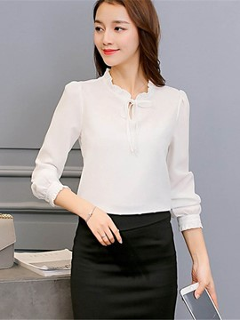 Ericdress Plain Slim OL Blouse