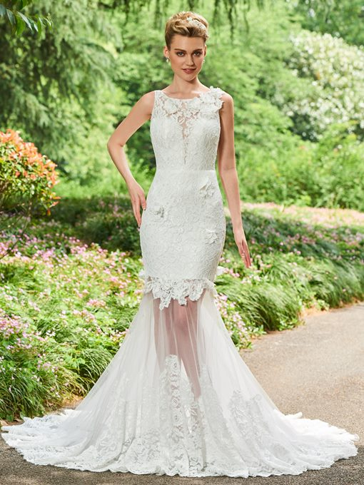 Ericdress 3D Floral Lace Mermaid Wedding Dress