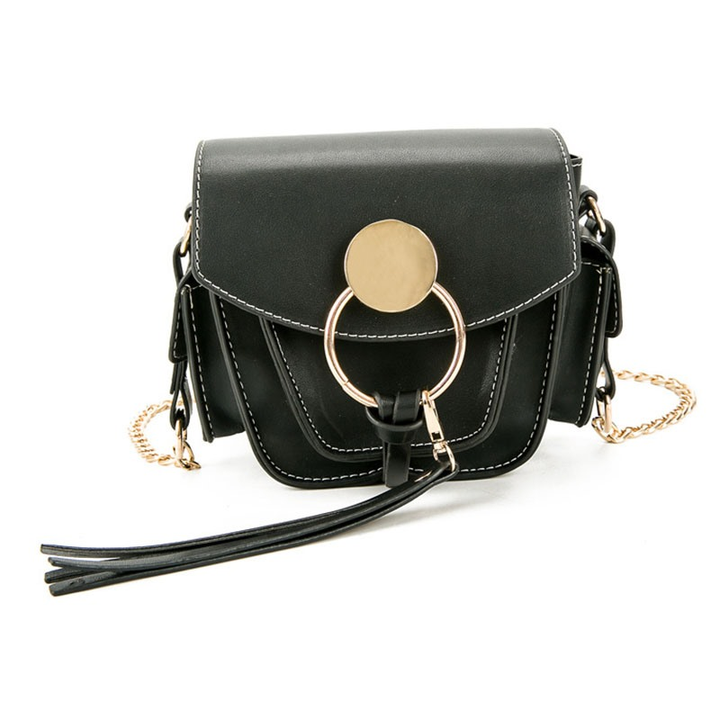 Ericdress Round Buckle Design Saddle Crossbody Bag