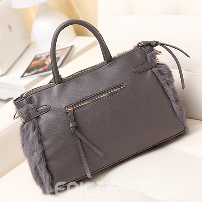 Ericdress Gorgeous Plush Zipper Women Handbag