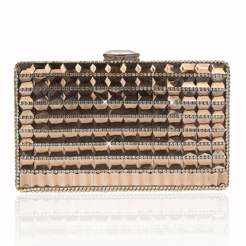 Ericdress Geometric Rhinestone Adornment Evening Clutch