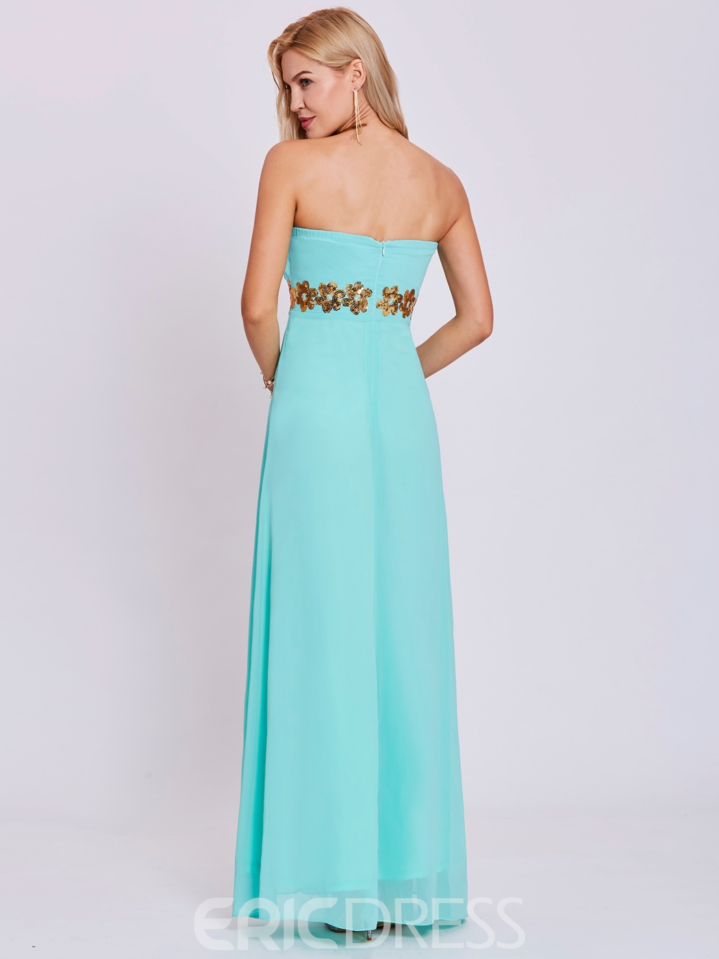 Ericdress Strapless Sequins A Line Prom Dress